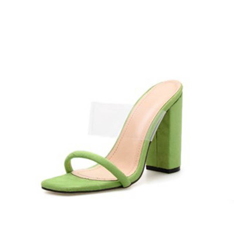 Ericdress PVC Flip Flop Chunky Heel Women's Mules Shoes