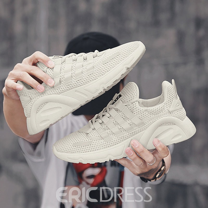 Ericdress Lace-Up Low-Cut Upper Men's Mesh Sneakers