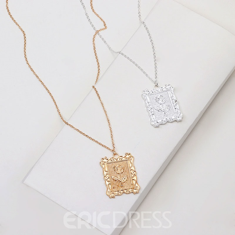 Ericdress Carving Pendant Necklace