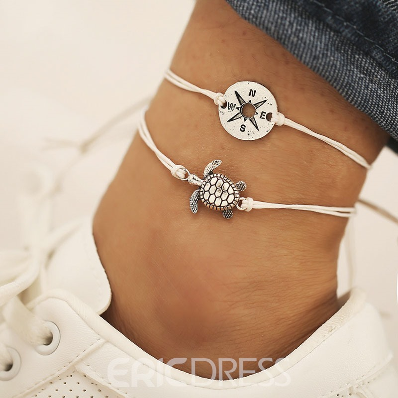 Ericdress Animal E-Plating Turtle Anklets