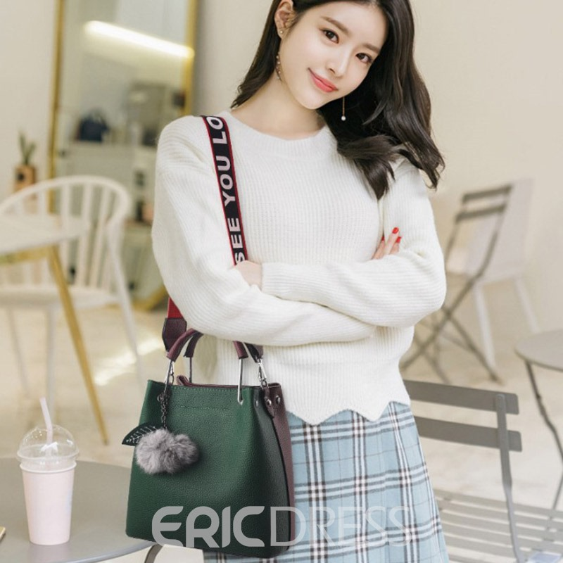 Ericdress European PU Barrel-Shaped Shoulder Bags