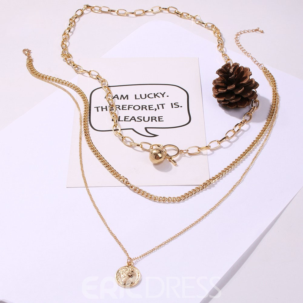 Ericdress Plain Round Female Necklaces