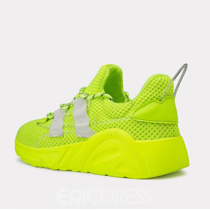 Ericdress Mesh Plain Lace-Up Round Toe Men's Running Shoes