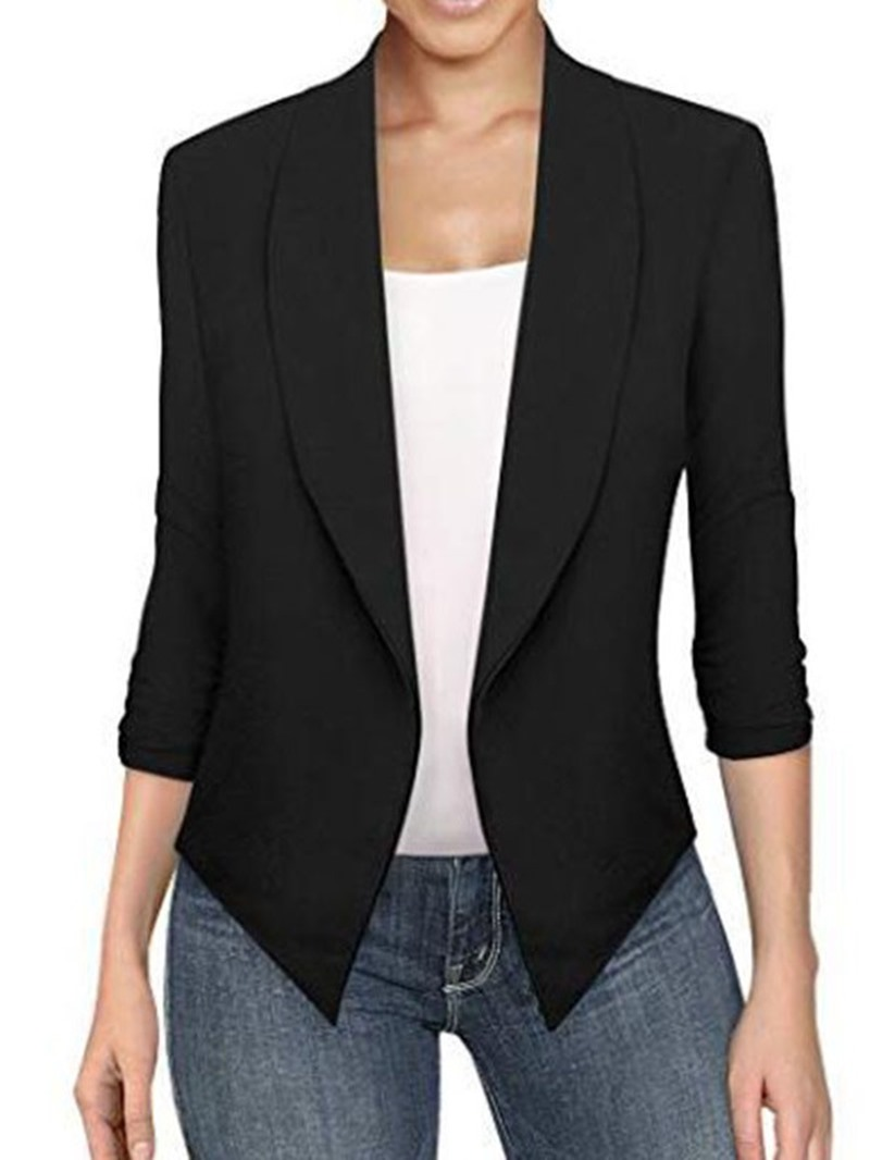 Ericdress_Asymmetrical_Lapel_Long_Sleeve_Plain_Office_Lady_Blazer