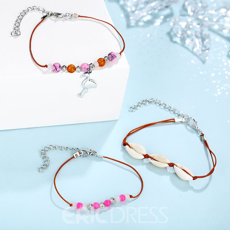 Ericdress Female Animal Pink Anklet