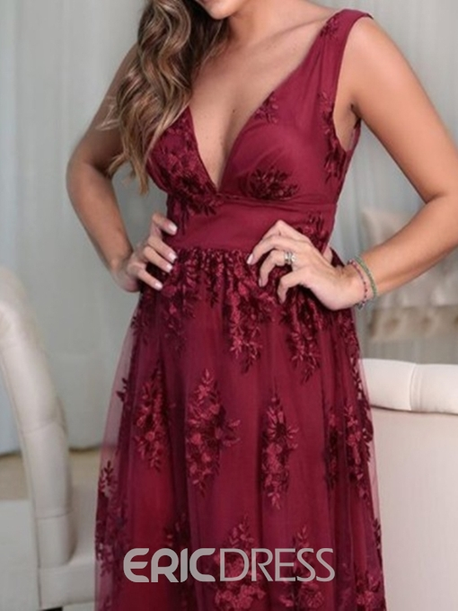Ericdress A-Line Lace Appliques Mother of the Bride Dress