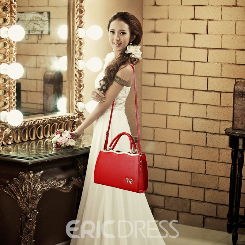 Ericdress European PU Bowtie Handbags