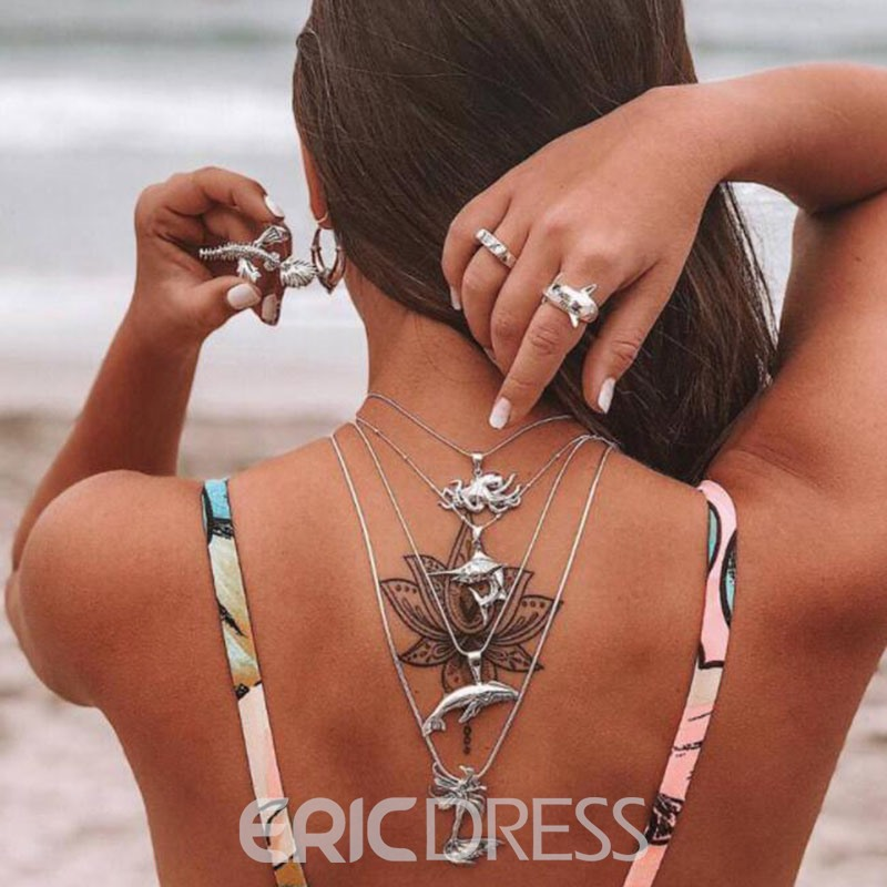 Ericdress Back Pendant Necklace