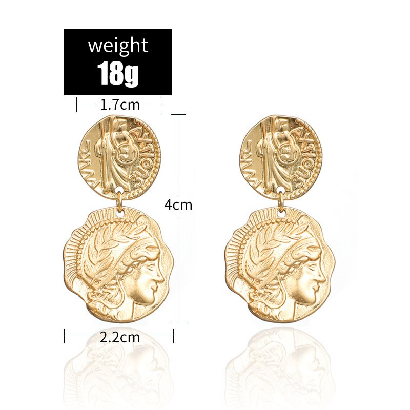 Ericdress Alloy Figure Golden Earrings
