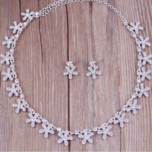 E-Plating Korean Necklace Jewelry Sets (Wedding)