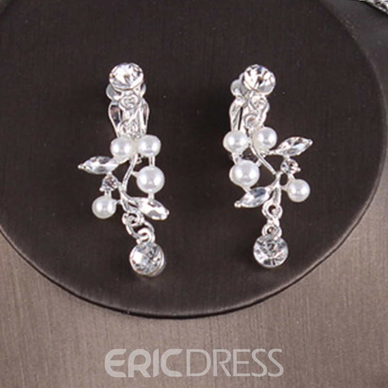 Floral Earrings E-Plating Wedding Jewelry Sets