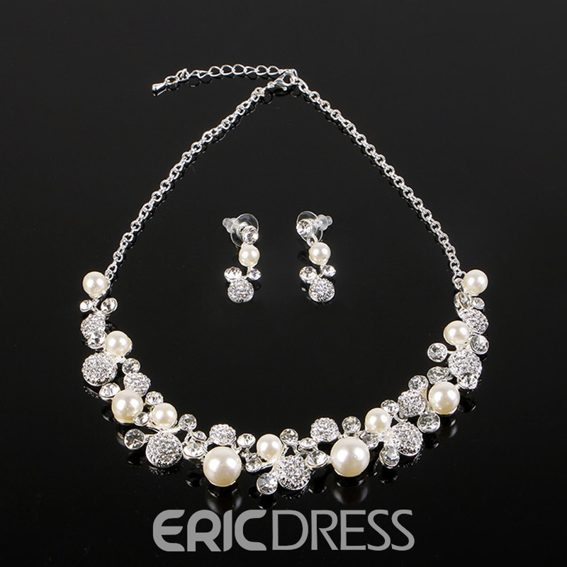 Korean E-Plating Earrings Jewelry Sets (Wedding)