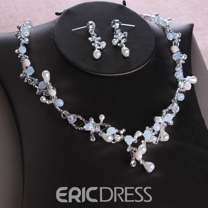 Necklace Korean E-Plating Jewelry Sets (Wedding)