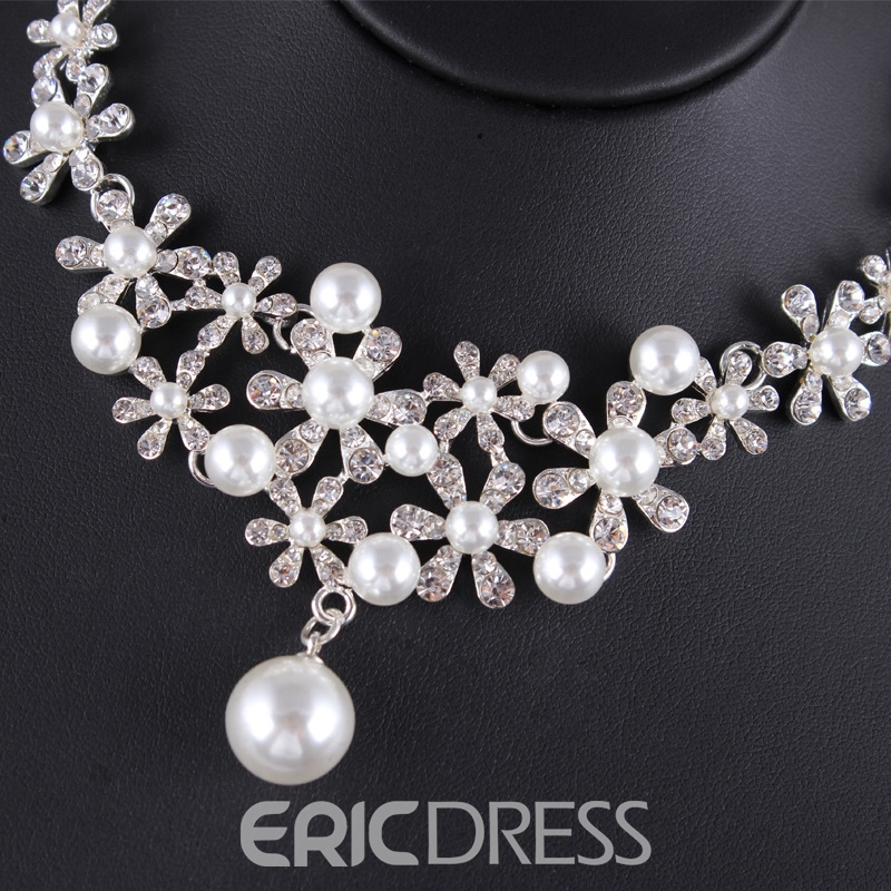 Earrings Korean E-Plating Jewelry Sets (Wedding)