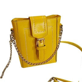 Ericdress Chain PU Plain Rectangle Crossbody Bags
