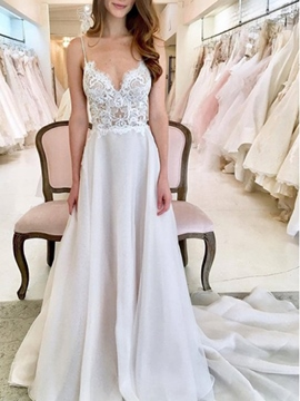 Ericdress Straps Lace Country Wedding Dress 2019