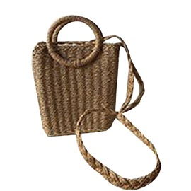 Ericdress Knitted Grass Plain Rectangle Tote Bags