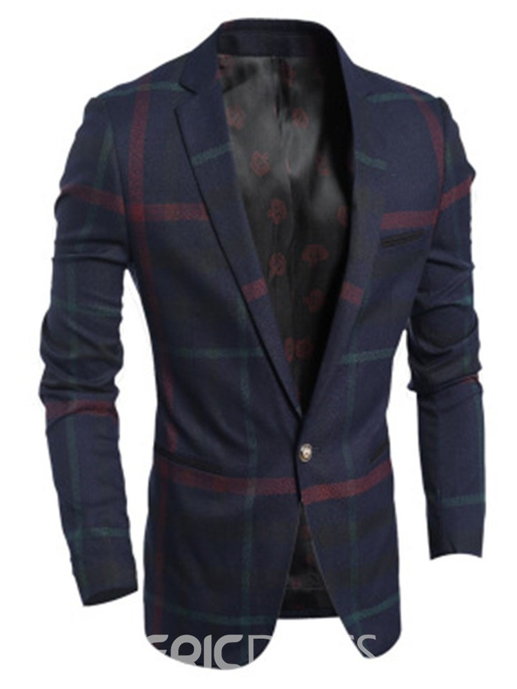 Ericdress Slim Fashion Notched Lapel Mens Blazers