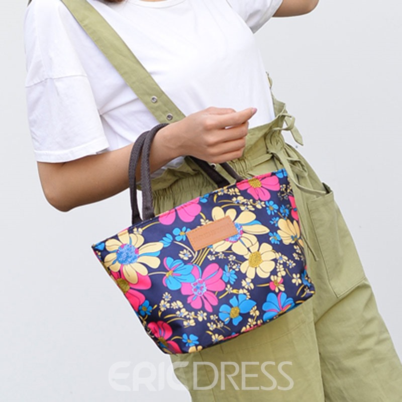 Ericdress Floral Print Square Handbags