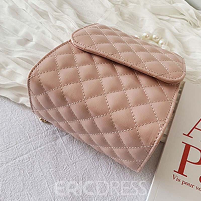 Ericdress Plaid PU Quilted Lining Square Crossbody Bags