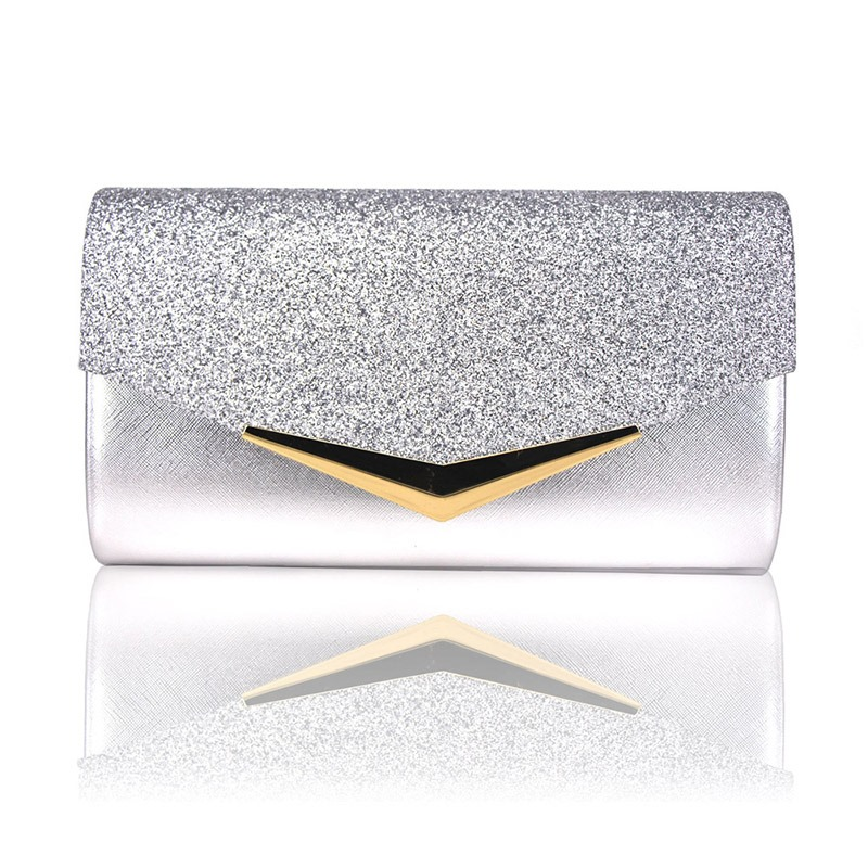 Ericdress Plain Party PU Clutches & Evening Bags