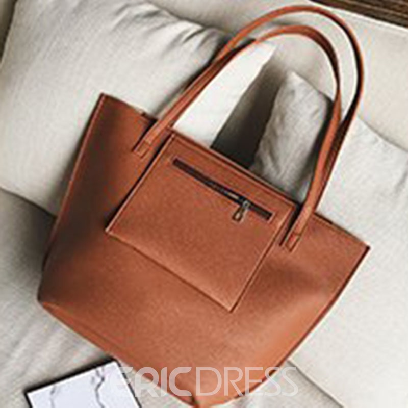 Ericdress PU Plain Rectangle Bag Set