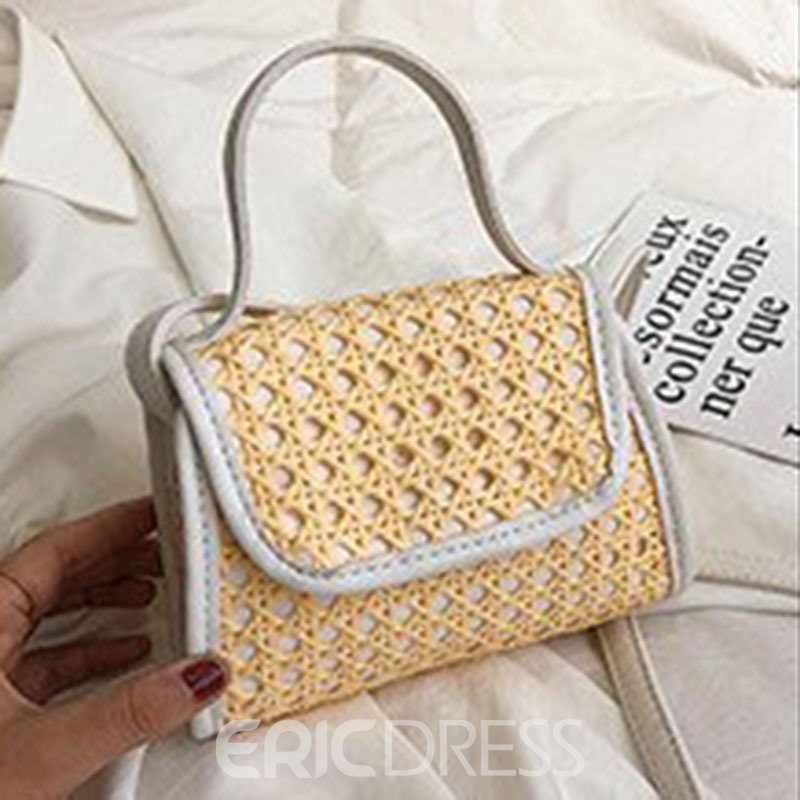 Ericdress Plain Knitted Square Crossbody Bags