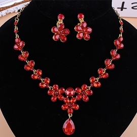 Ericdress Korean Water Drop Necklace Jewelry Sets