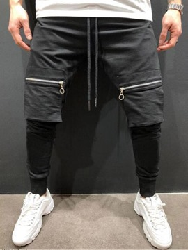 Ericdress Plain Lace-Up Spring Hip Hop Mens Casual Pants