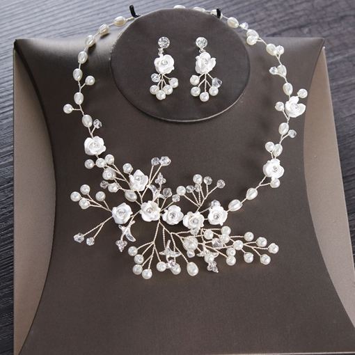 Ericdress Korean Floral Necklace Jewelry Sets (Wedding)