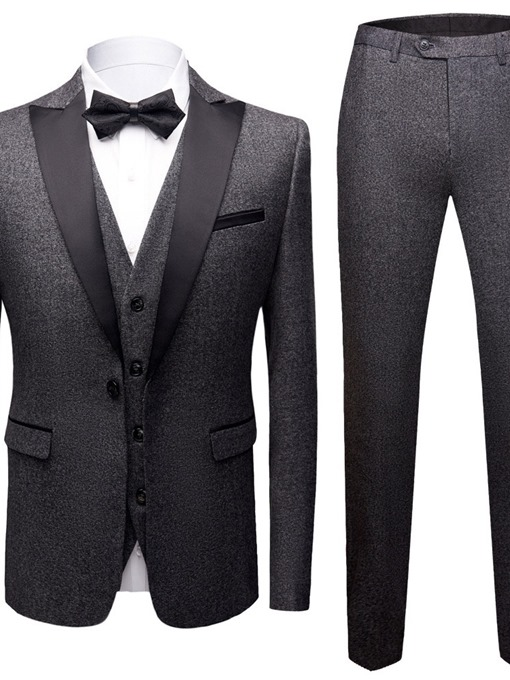 Ericdress Pants Patchwork One Button Mens Dress Suit