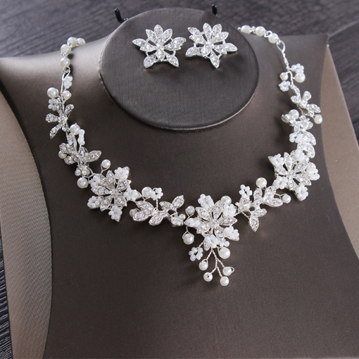 Ericdress Floral Diamante Earrings Jewelry Sets