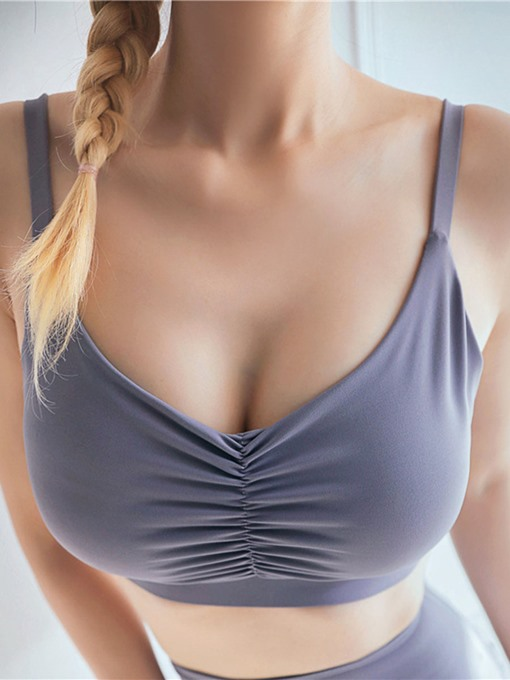 Ericdress Women Plain Full Cup Running Yoga Sports Bras