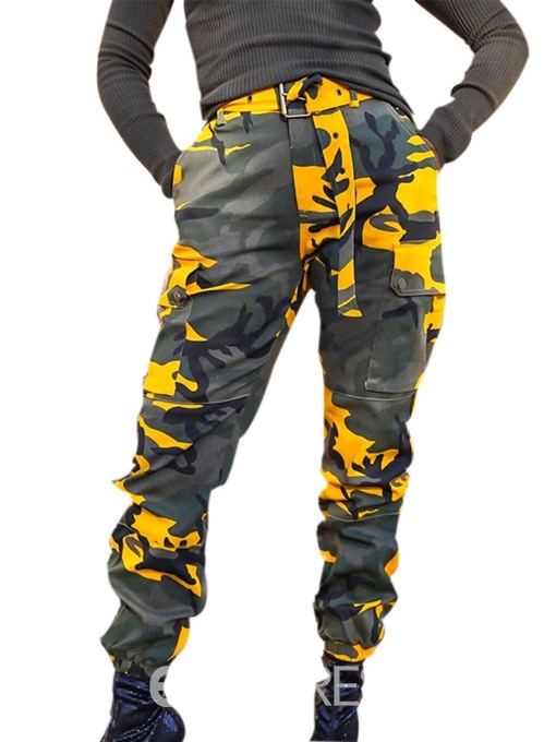 Ericdress Belt Camouflage Loose Casual Pants