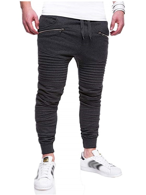 Ericdress Zipper Camouflage Fall Mid Waist Mens Casual Pants
