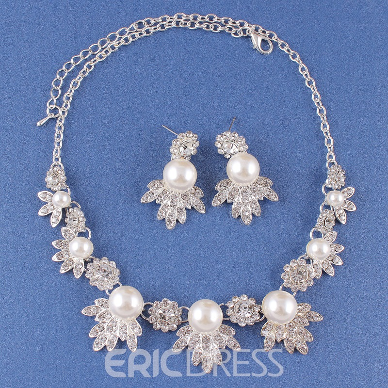 Ericdress Korean Floral E-Plating Wedding Jewelry Sets