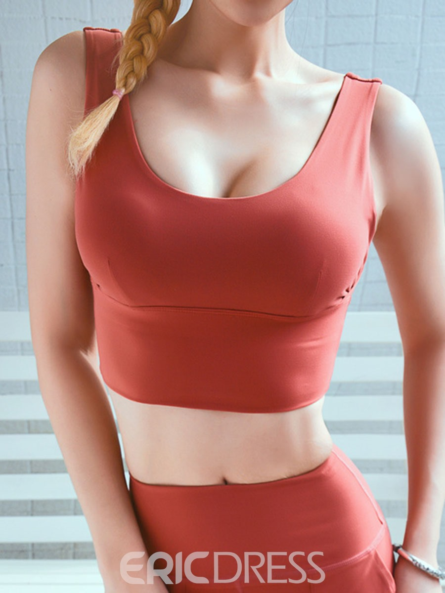 Ericdress Women Support Free Wire Yoga Running Sports Bras