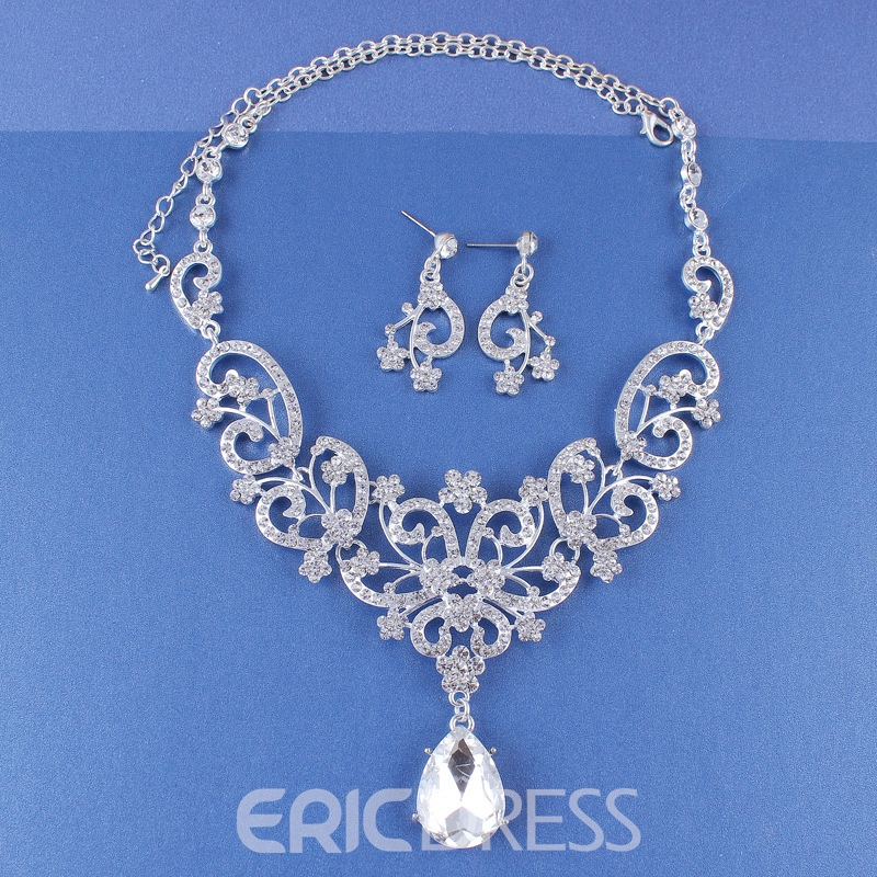Ericdress Water Drop Korean E-Plating Wedding Jewelry Sets
