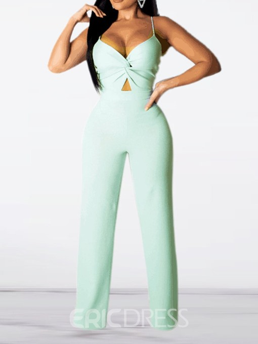 Ericdress Strap Sexy Skinny Straight Jumpsuit