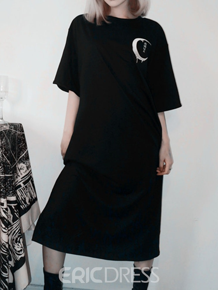 Ericdress Round Neck Embroidery Mid-Calf Pullover Halloween Costume Dress