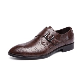Ericdress Plain Pointed Toe Block Heel Men's Oxfords