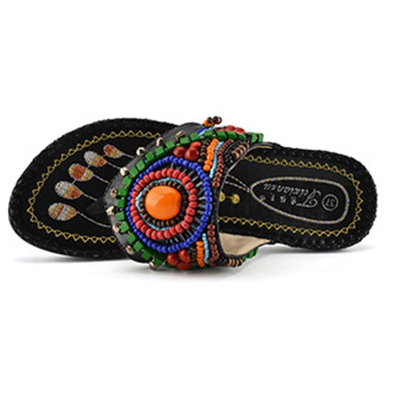 Ericdress Ethnic Slip-OnThong Women's Flat Sandals