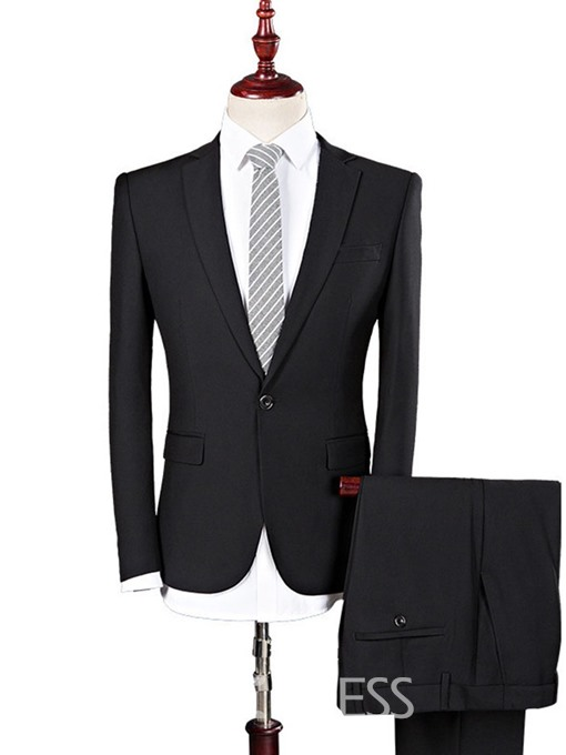 Ericdress Pants Pocket Formal Mens Dress Suit