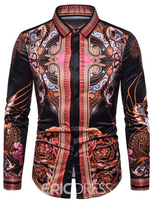 Ericdress African Fashion Dashiki Slim Mens Single-Breasted Shirt