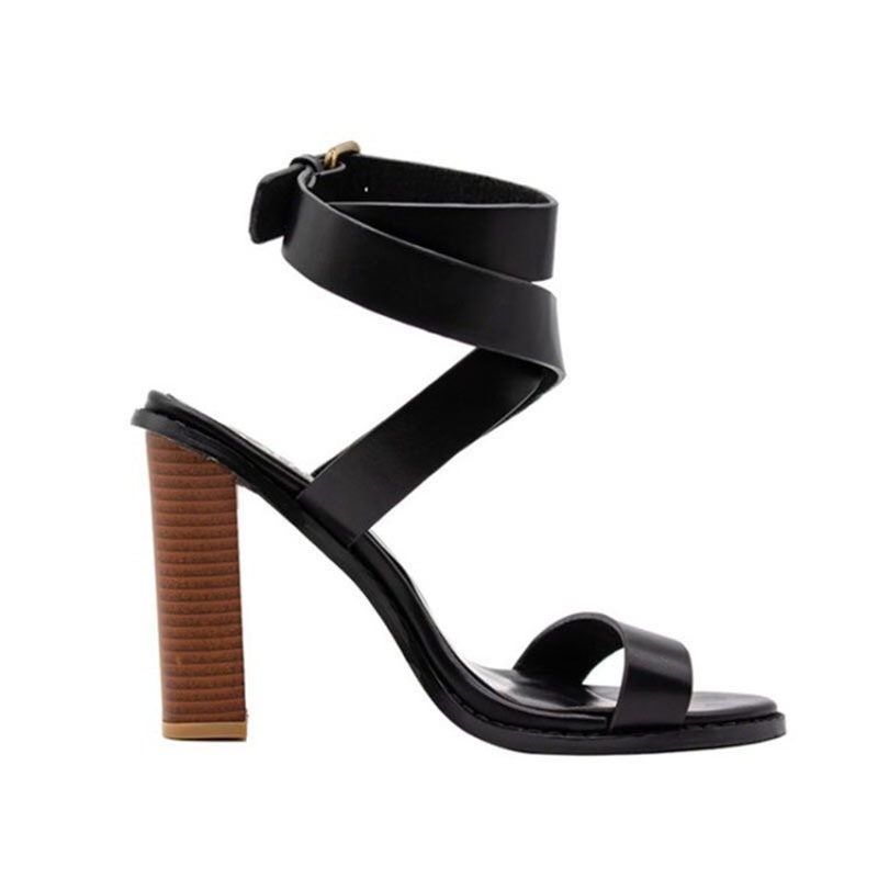 Ericdress Plain Buckle Strappy Chunky Heel Women's Sandals