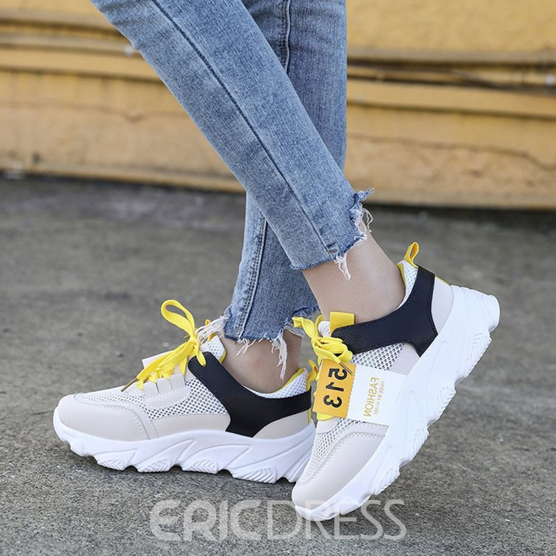 Ericdress Low-Cut Upper Lace-Up Women's Sneakers