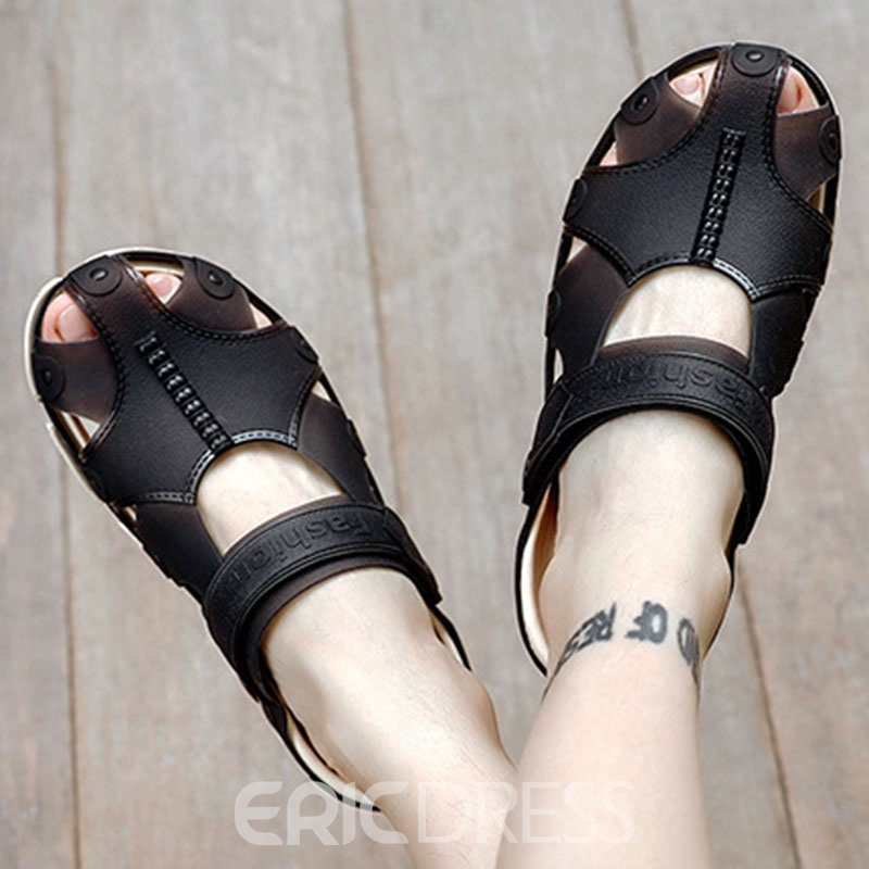 Ericdress PVC Slip-On Hollow Men's Sandals