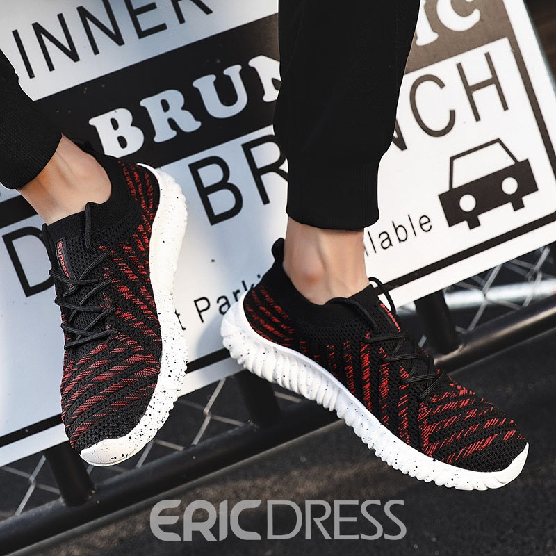 Ericdress Mesh Lace-Up Low-Cut Upper Lace-Up Men's Sneakers