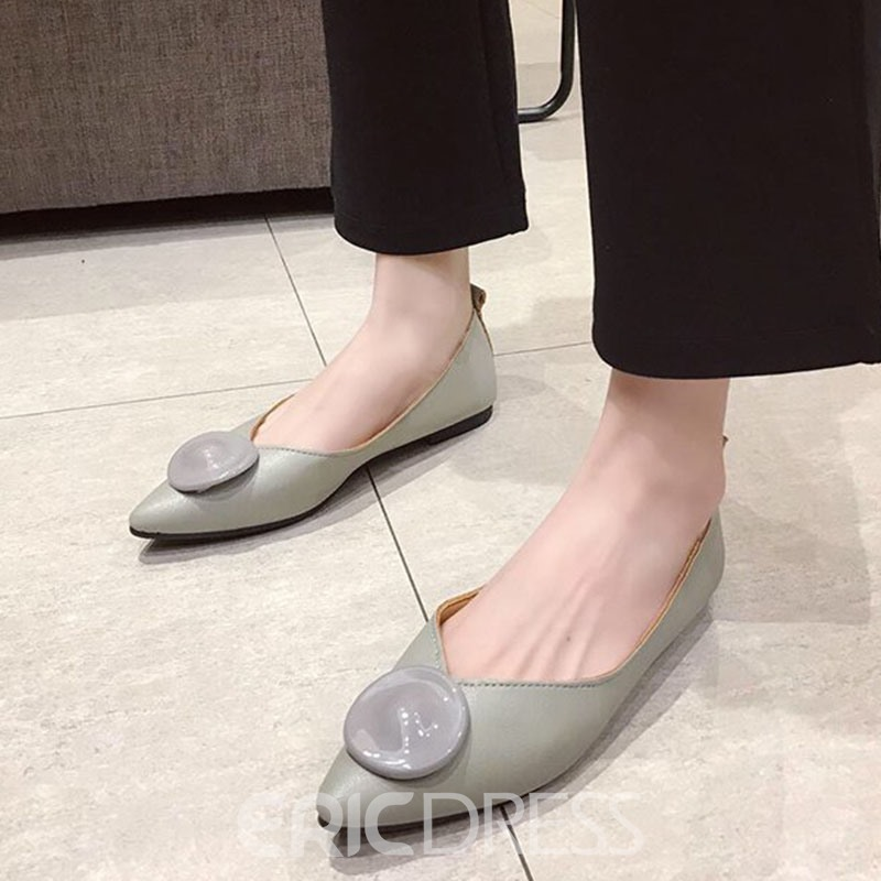 Ericdress Thread Pointed Toe Slip-On Sweet Thin Shoes