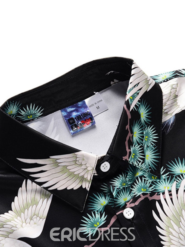 Ericdress Print Animal Mens Summer Outfit